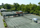 Aerial view of clay courts